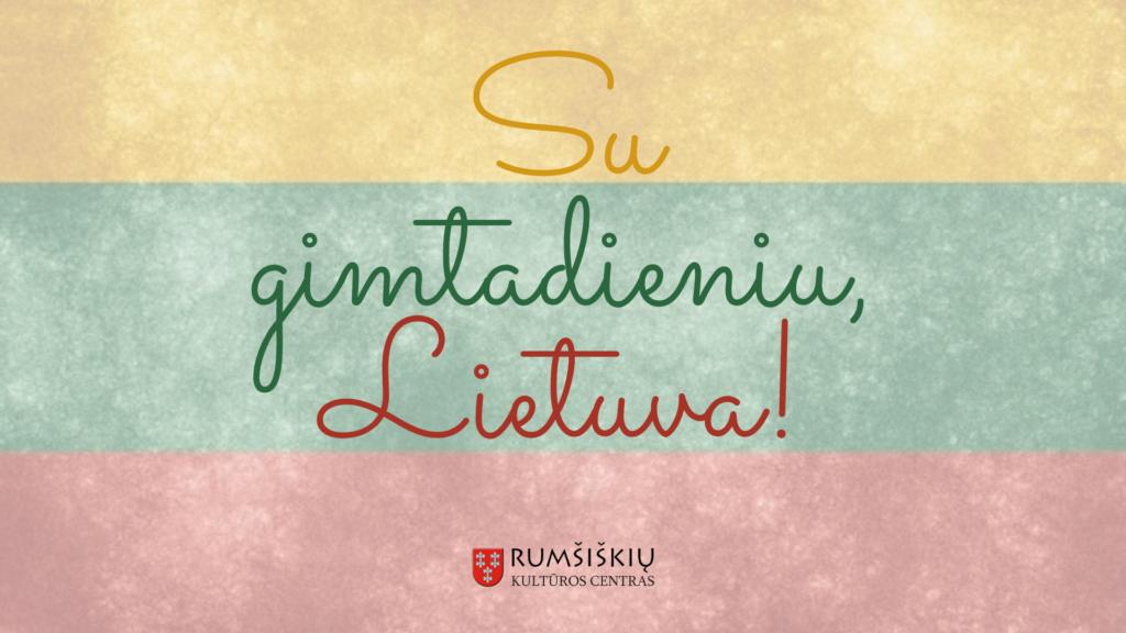 Su gimtadieniu Lietuva