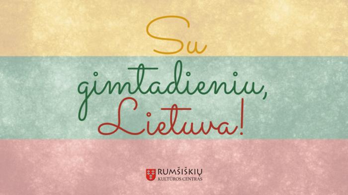 Su gimtadieniu Lietuva!